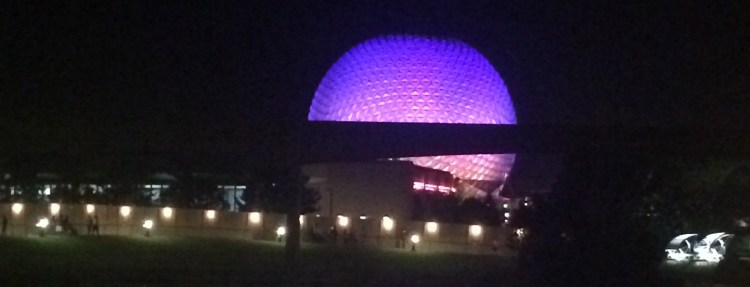 Epcot at night