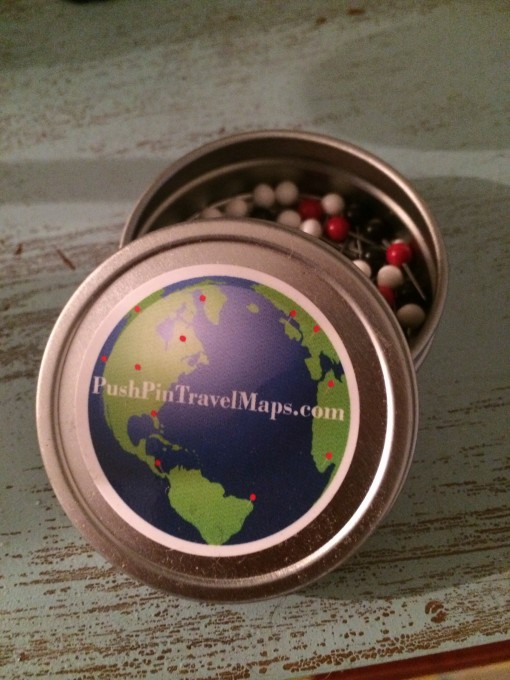 Push Pin Travel Map from http://www.pushpintravelmaps.com/earth-tone-world-travel-map-with-pins/