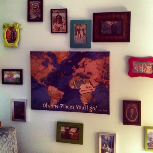 Gallery wall in the guest room