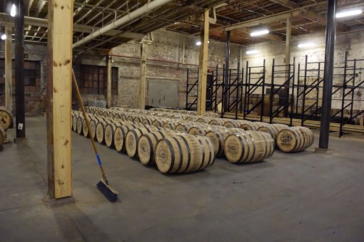 Future aged whiskey at Nelson's Greenbrier Distillery in Nashville, TN