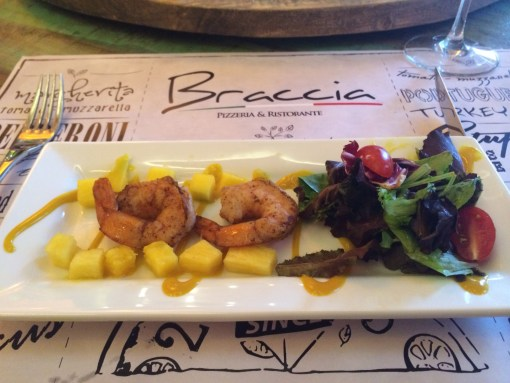 Tropical Salad at  Braccia Pizzeria & Restaurante in Winter Park, FL