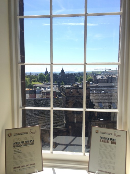 View from the window of The Scotch Whisky Experience on the Royal Mile in Edinburgh, Scotland