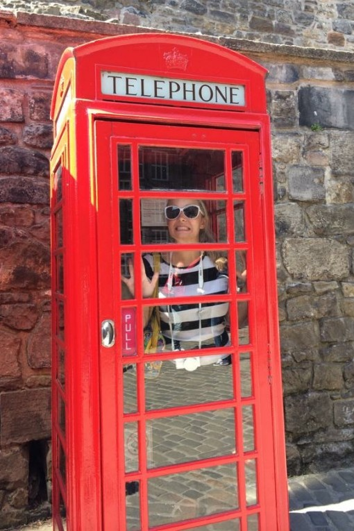 Phone booth in Edinburgh