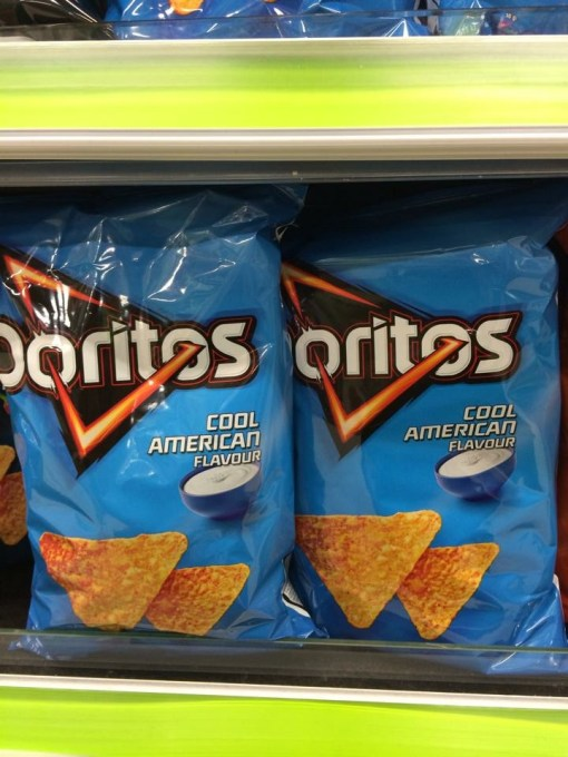 """Cool American"" Doritos in Iceland"