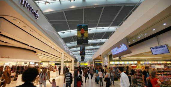 London's Heatrow Airport has all of the amenities of an upscale shopping mall
