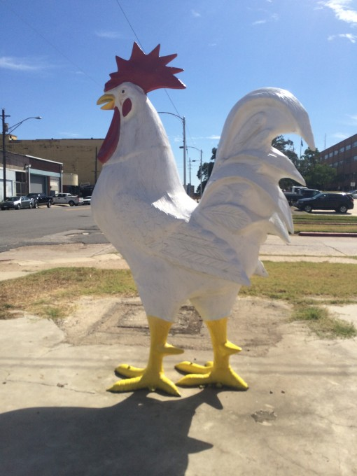 Giant rooster in Shreveport, LA