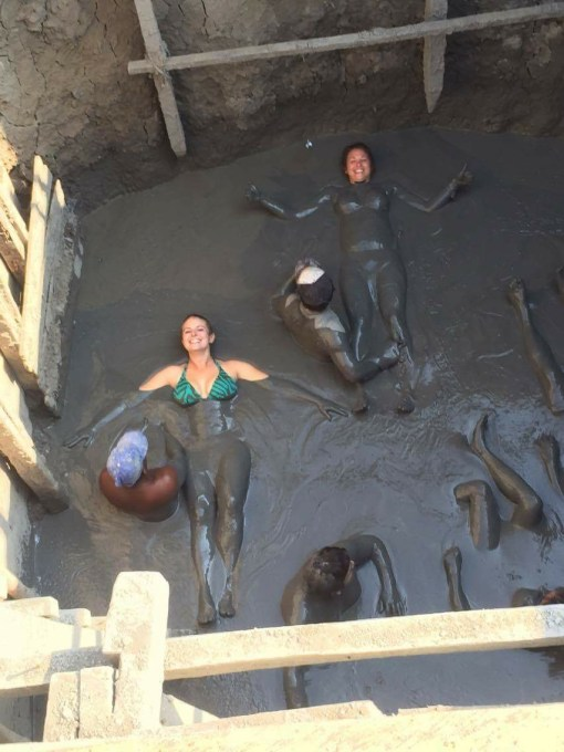 El Totumo volcanic mud baths outside of Cartagena, Colombia