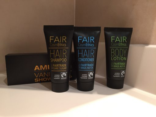 Fair trade toiletries aboard the Fathom Adonia