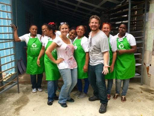 The ladies of RePapel in the Dominican Republic