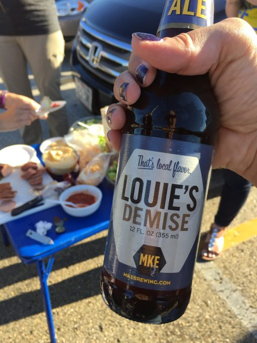 Tailgating for the Brewer's game with some local Milwaukee beer