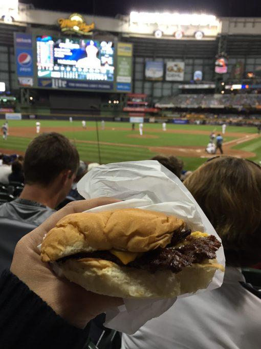 Peanut butter burger at Miller Park in Milwaukee