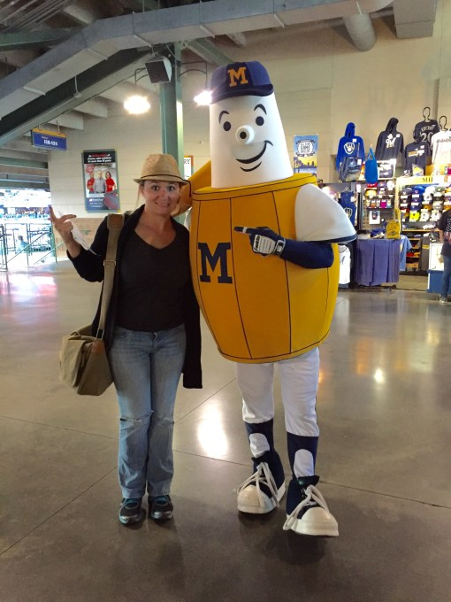 Barrelman at Miller Park in Milwaukee