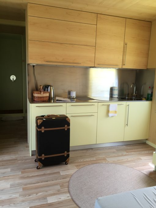 Kitchen at Big Berry Lifestyle Camp on the Kolpa River in Bela Krajina in Slovenia