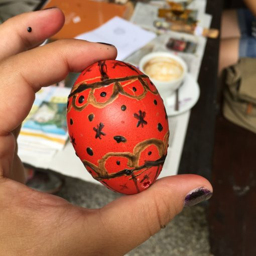 Decorating pisanice (dyed eggs) in Bela Krajina, Slovenia