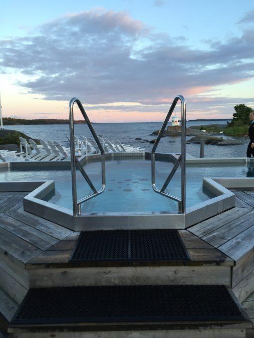 The spa at Nynäs Havsbad in Nynäshamn, Sweden (60km South of Stockholm)
