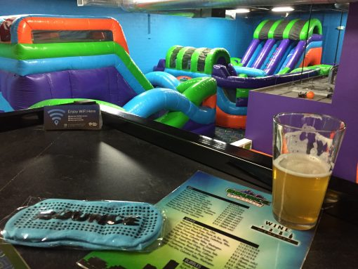 Bounce Milwaukee- Adult sized bounce houses, lazer tag, and of course... a bar!