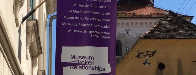 The Museum of Broken Relationships in Zagreb, Croatia exhibits donated items telling the story of the demise of personal relationships from all over the world.