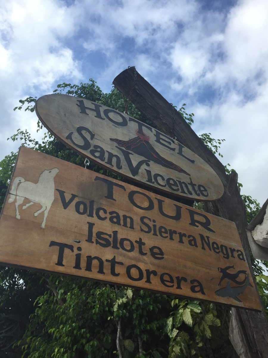 The Hotel San Vincente on Isla Isabela in the Galapagos Islands.
