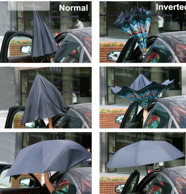 An inverted umbrella! What took so long?