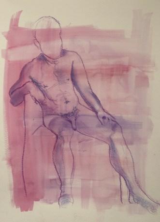 Matteo 3, watercolour & pastel