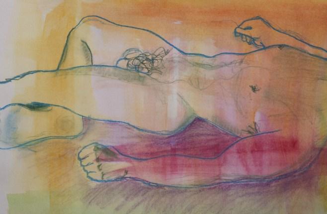 Matteo 1, watercolour & pastel