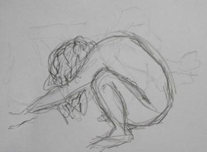 moving model, 3 minutes, pencil, A4
