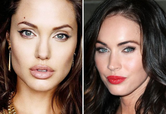 1-Angelina Jolie : Megan Fox
