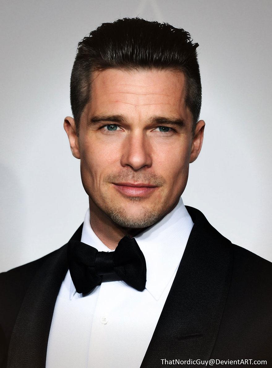 4-Brad Pitt : Ethan Hawke