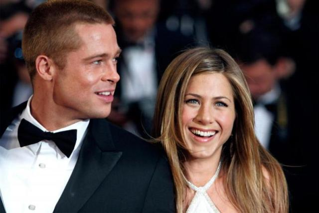 6.Brad Pitt & Jennifer Aniston