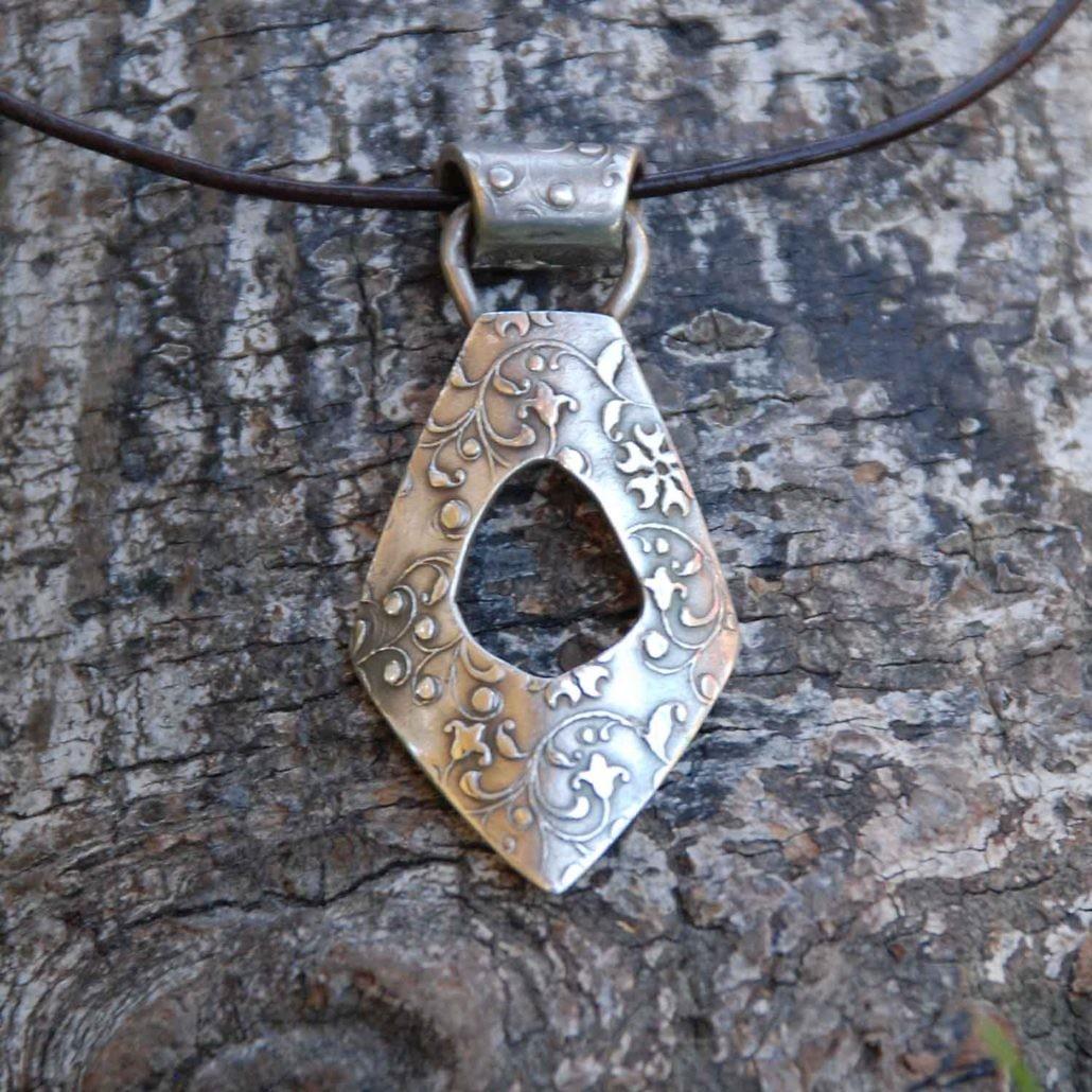 FLORAL Silberanhänger