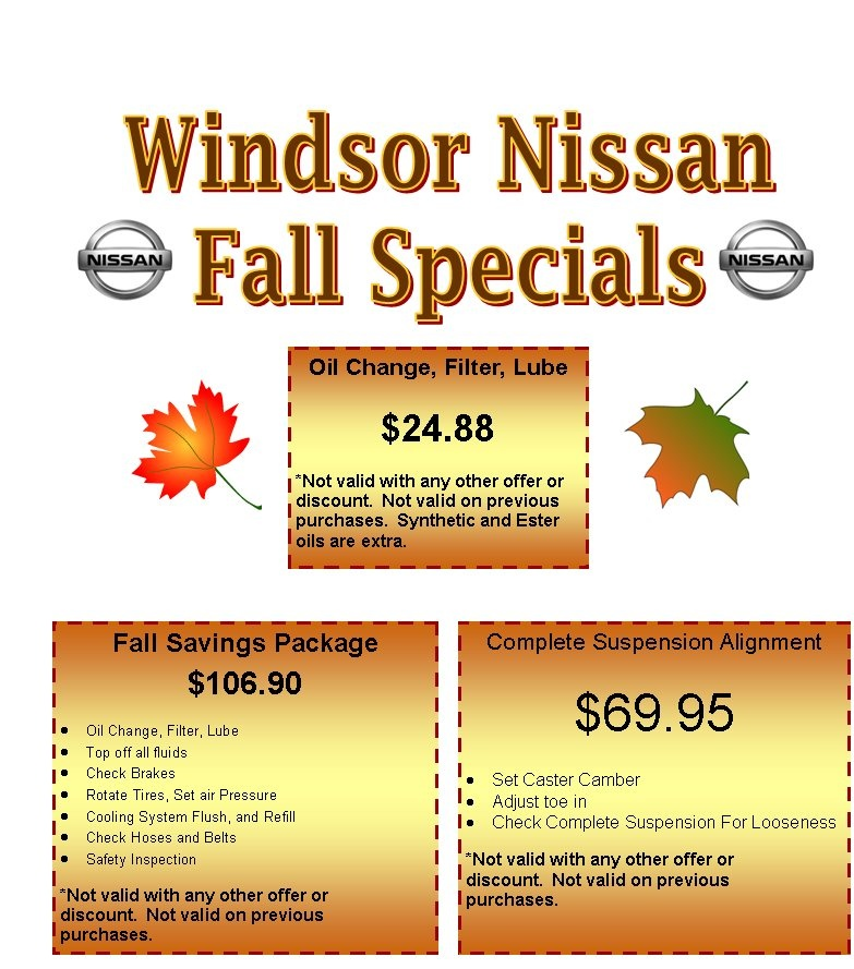 Windsor Nissan Fall Specials