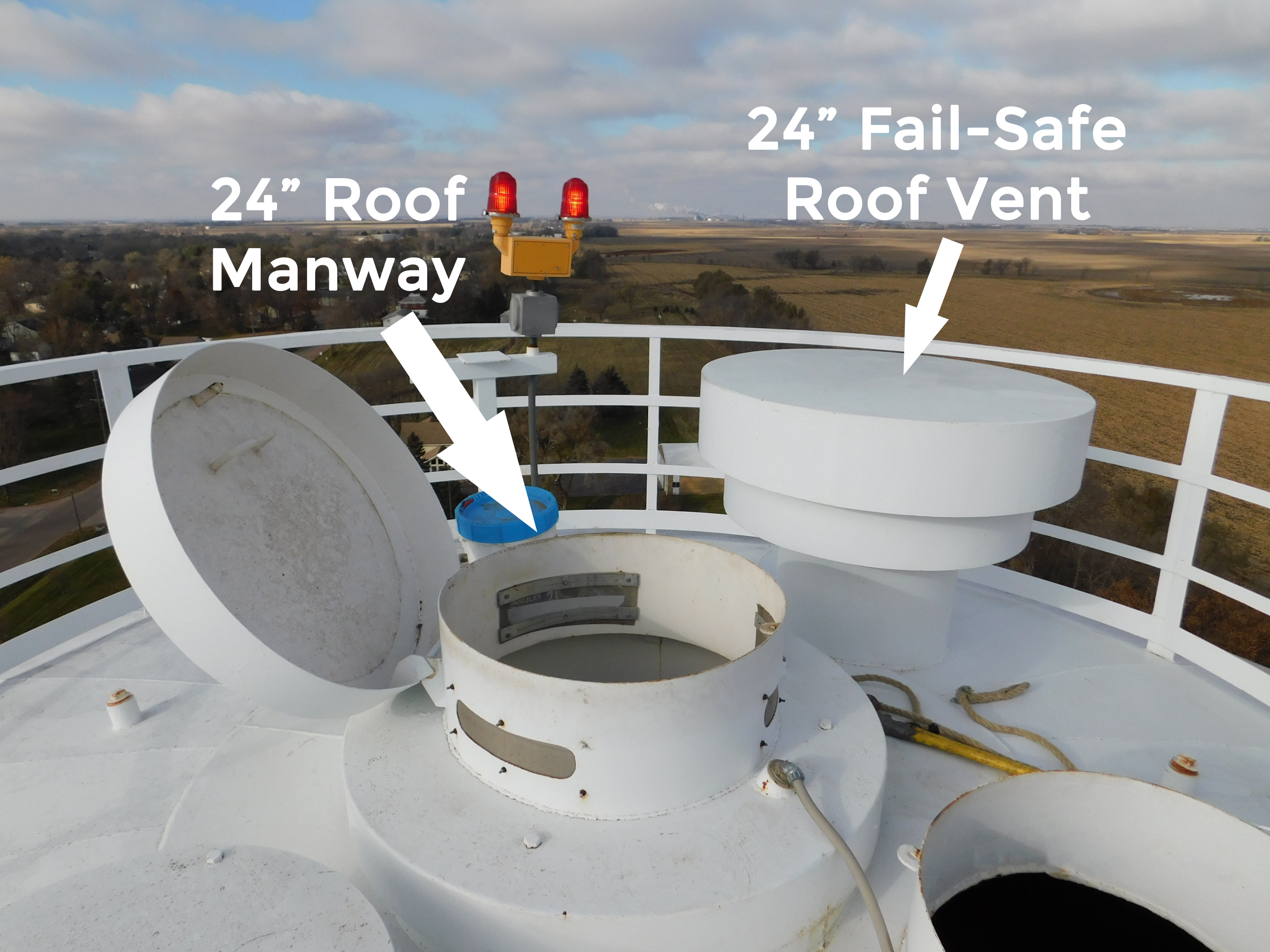 Roof Manway and Fail-Safe Vent