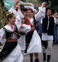 Dancing at the autumn festival