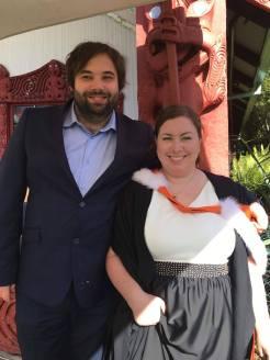 Oli and me and my Maori graduation ceremony.