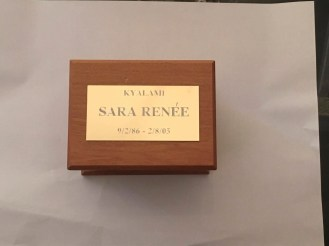 This is how we want her little casket to be.