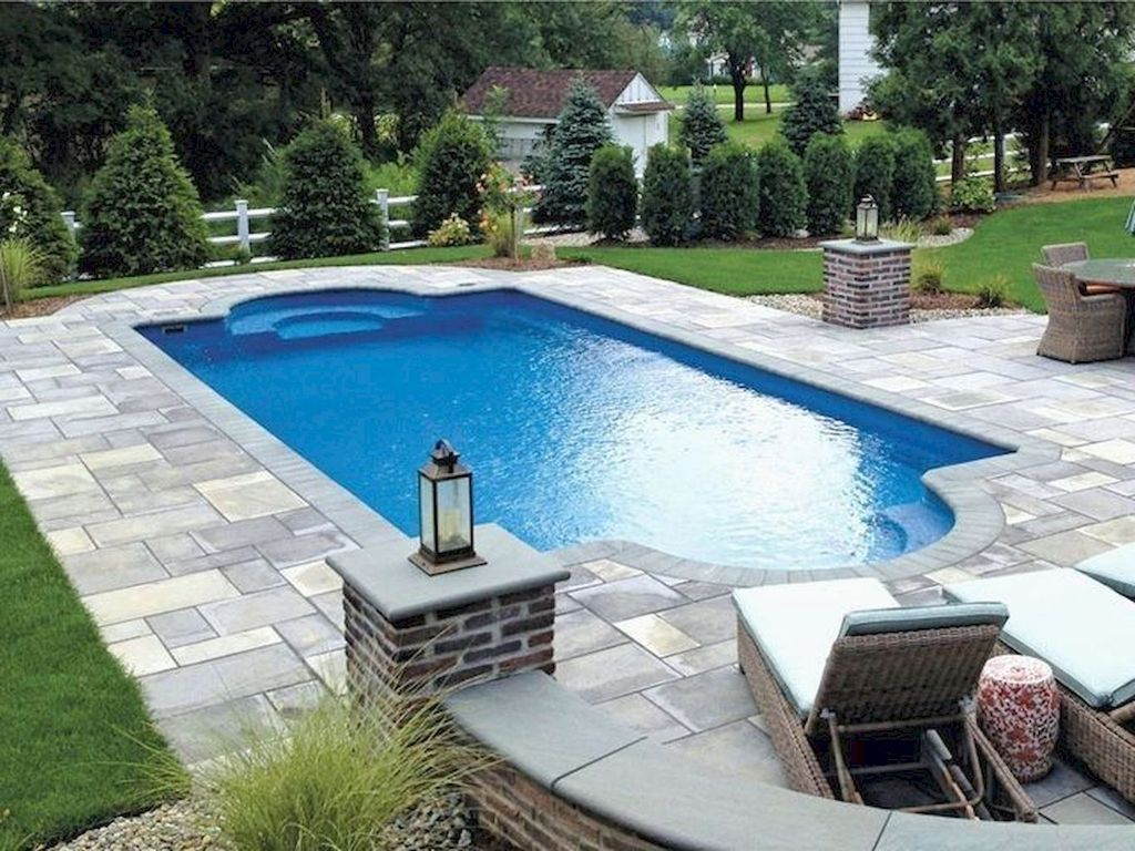 Gorgeous Summer Outdoor Pool Design Ideas 19