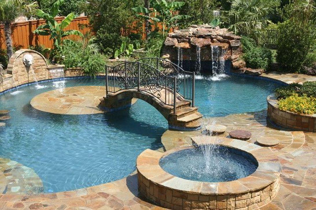 Gorgeous Summer Outdoor Pool Design Ideas 33