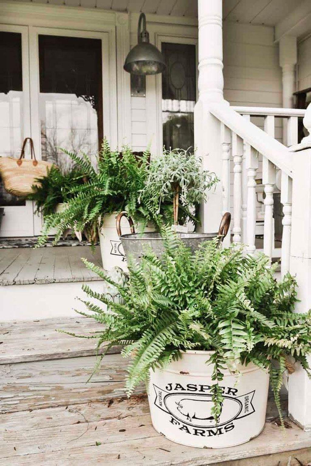 Inspiring Spring Planters Design Ideas For Front Door 03
