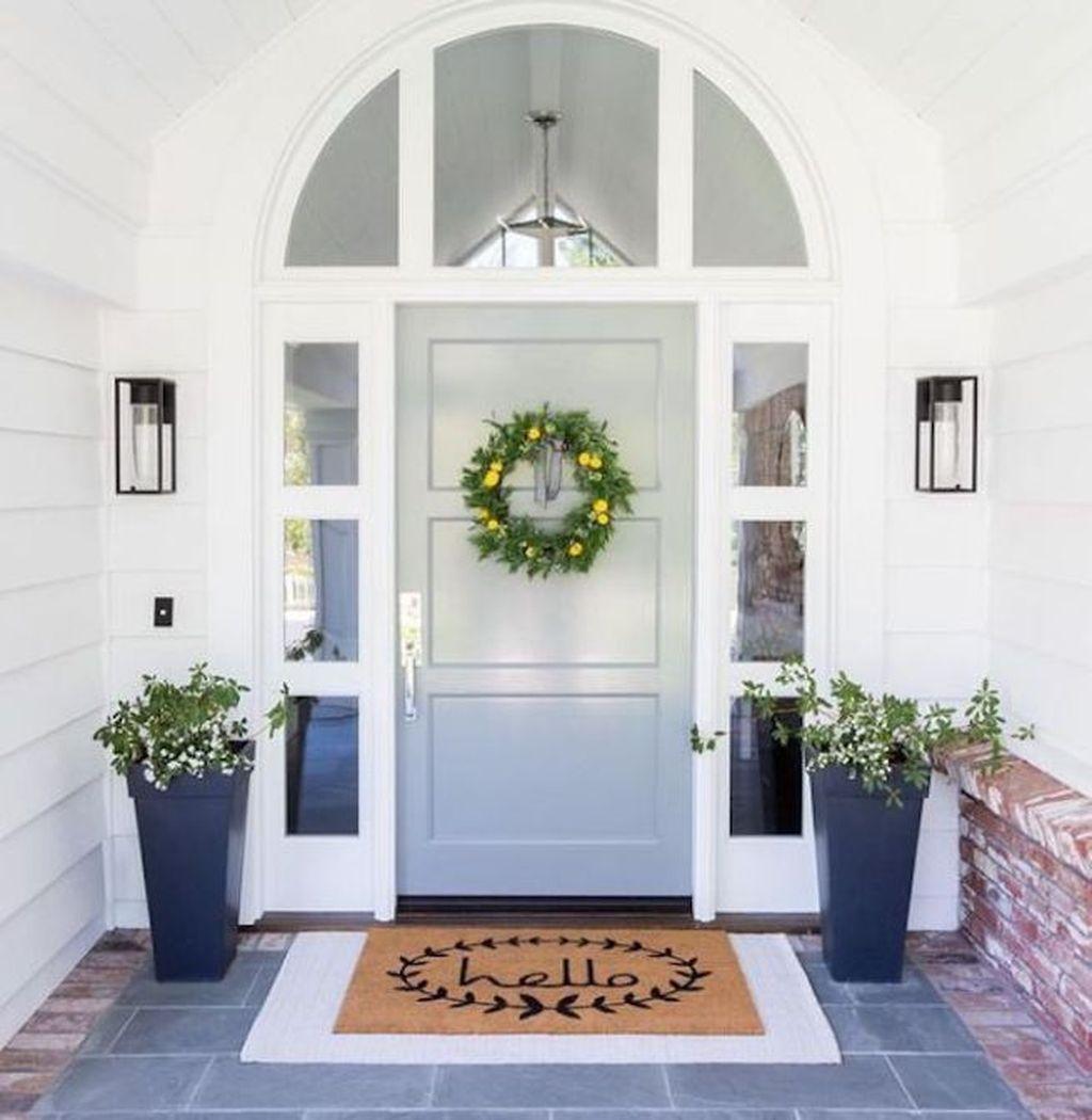 Inspiring Spring Planters Design Ideas For Front Door 16