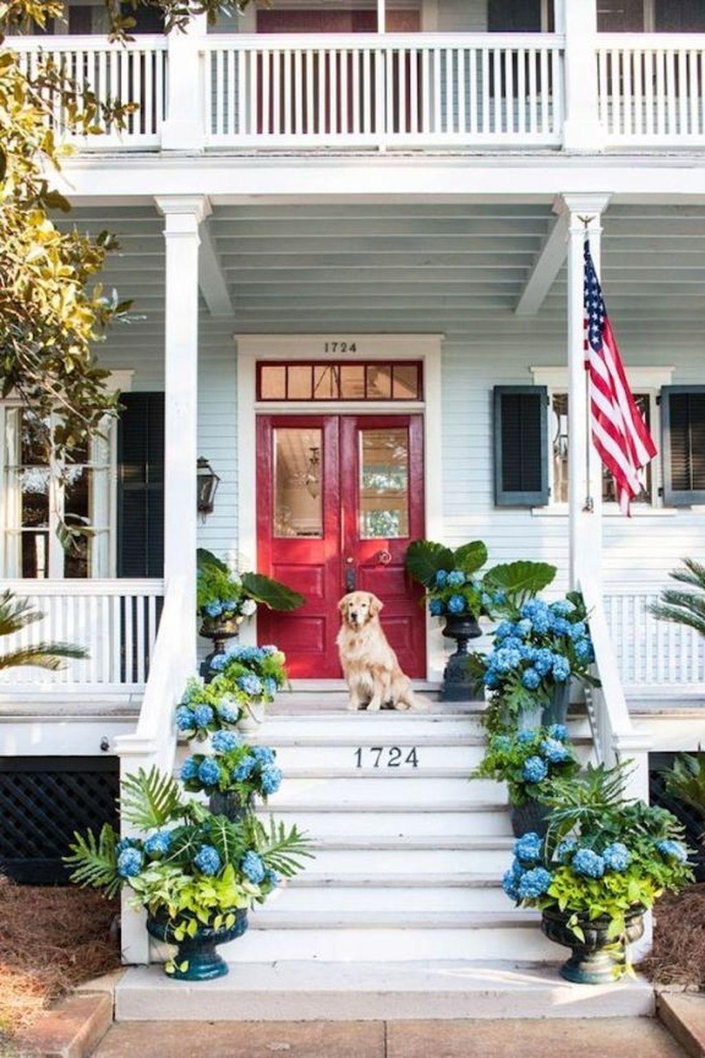 Inspiring Spring Planters Design Ideas For Front Door 17