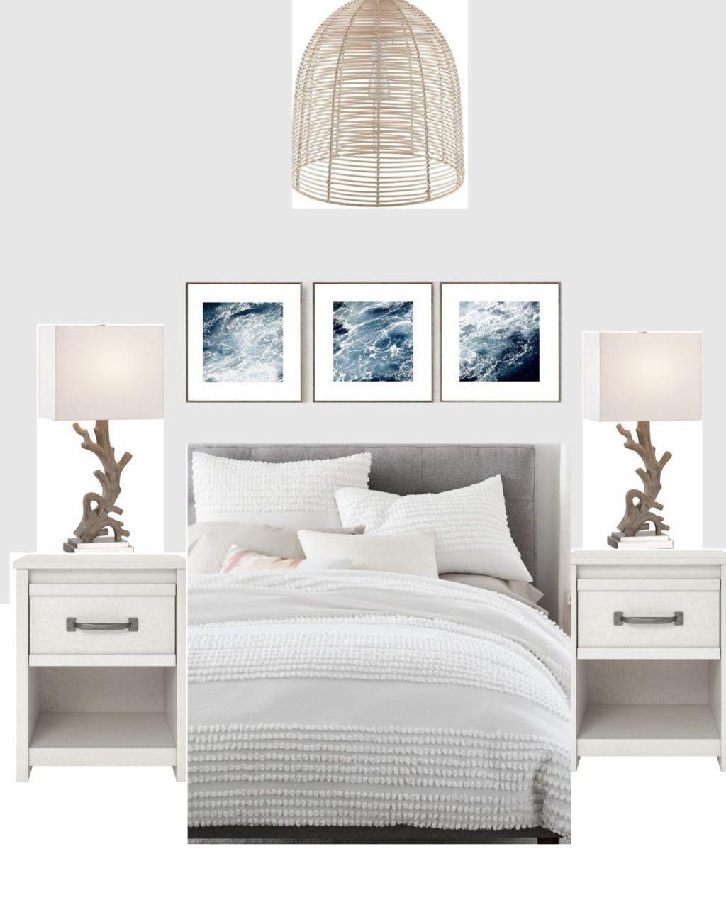 Wonderful Modern Coastal Bedroom Decoration Ideas 19
