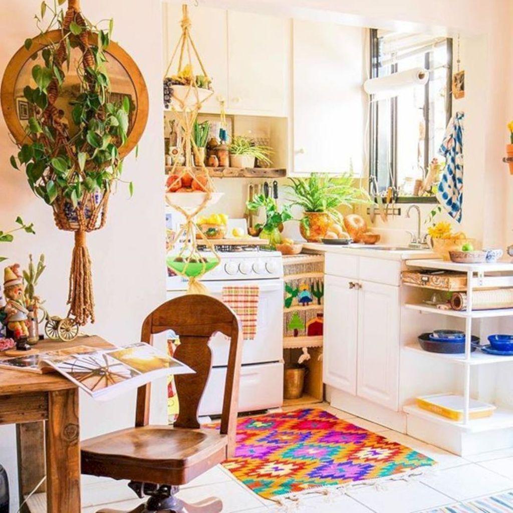 Amazing Bohemian Farmhouse Living Room Design Ideas 09