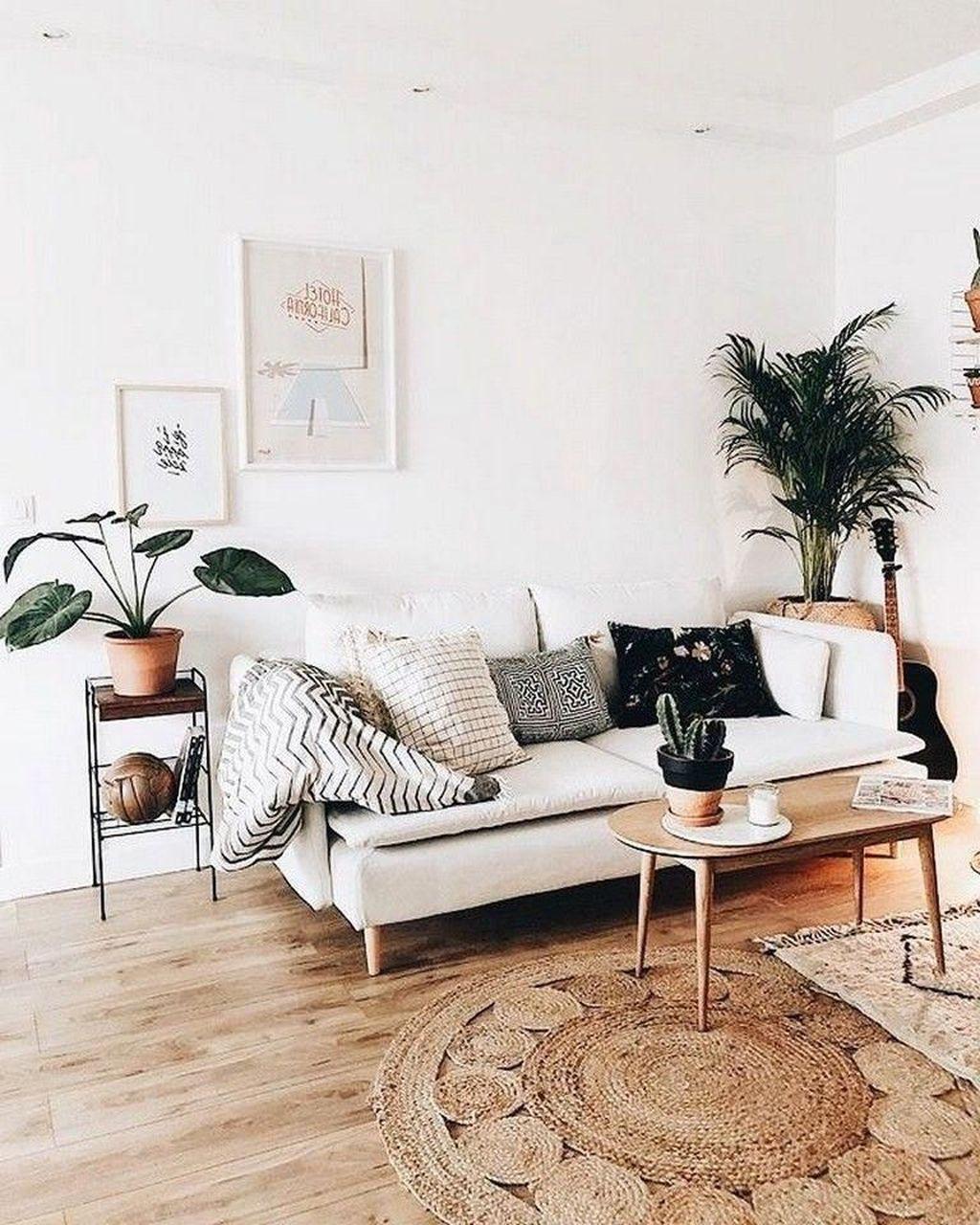 Amazing Bohemian Farmhouse Living Room Design Ideas 15