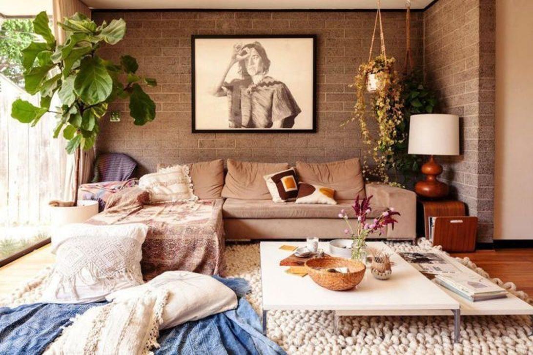 Amazing Bohemian Farmhouse Living Room Design Ideas 17