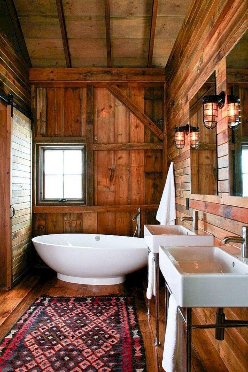 Amazing Rustic Barn Bathroom Decor Ideas 08