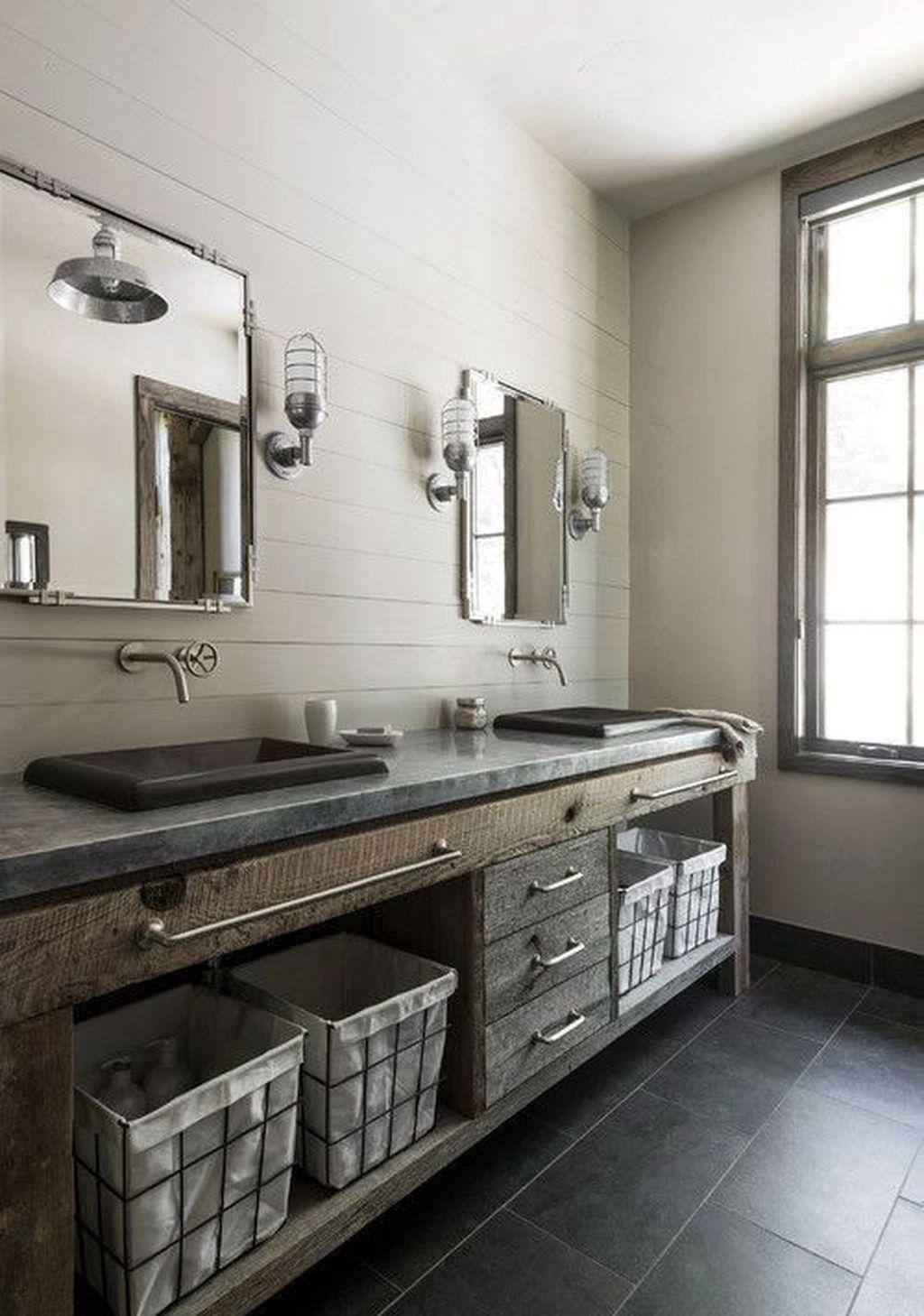 Amazing Rustic Barn Bathroom Decor Ideas 36