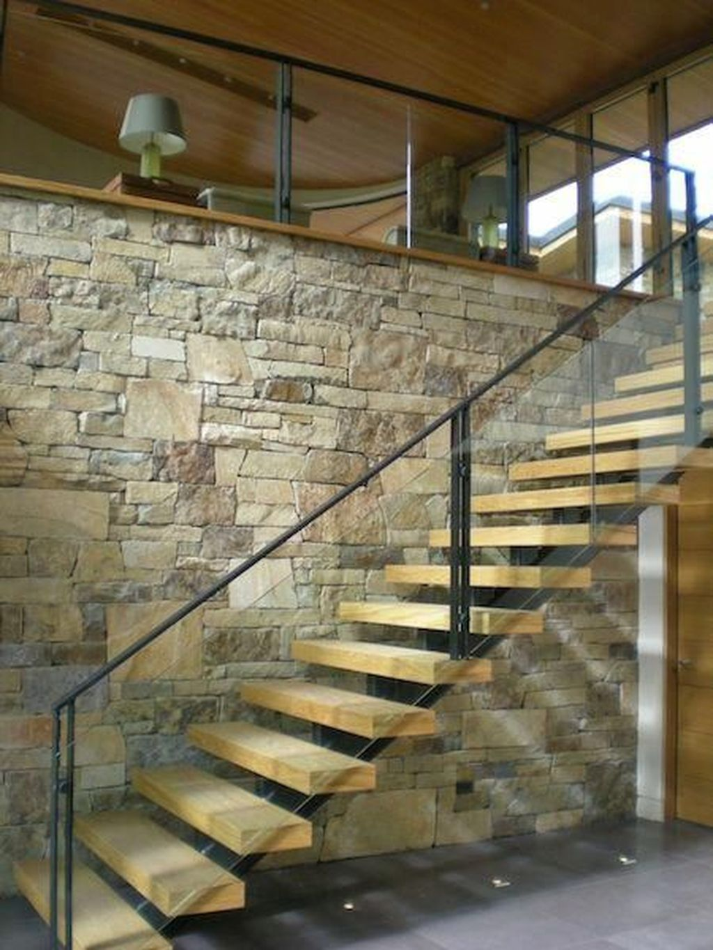 Awesome Modern Glass Railings Design Ideas For Stairs 02