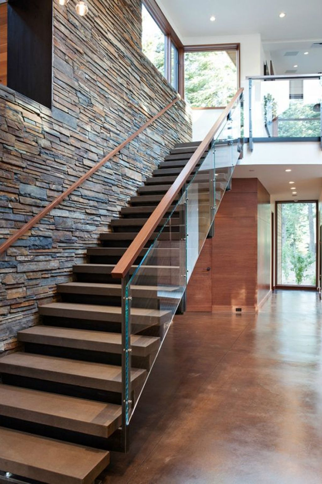 Awesome Modern Glass Railings Design Ideas For Stairs 06
