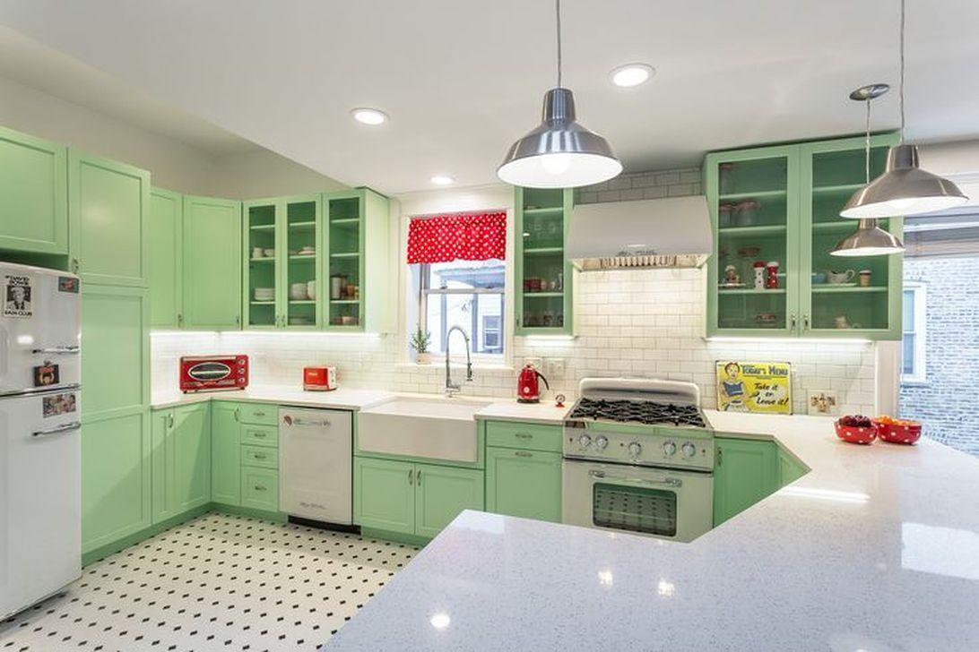 Awesome Retro Kitchen Design Ideas 24