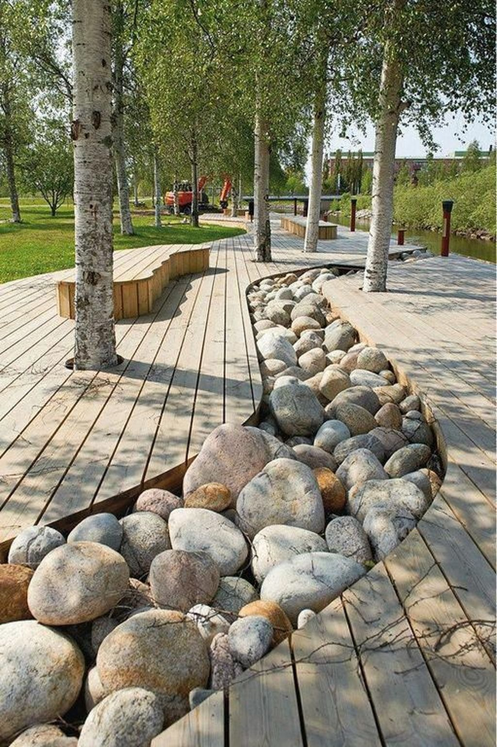 Awesome River Rock Landscaping Ideas 09